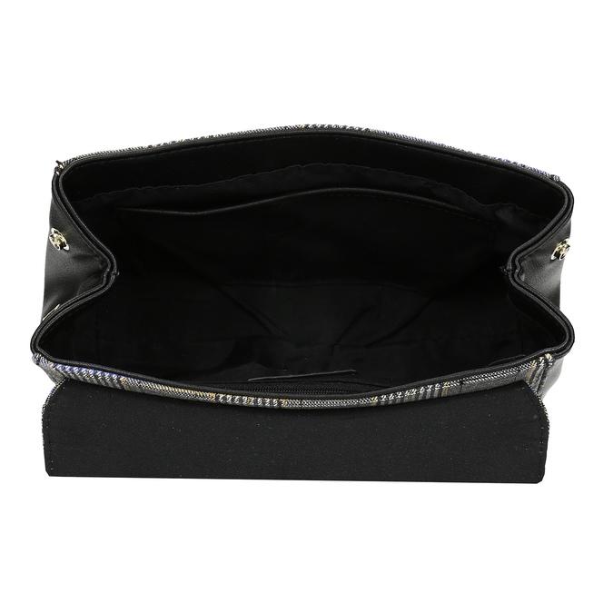 Černá kabelka s károvaným vzorem bata-red-label, černá, 961-6982 - 15