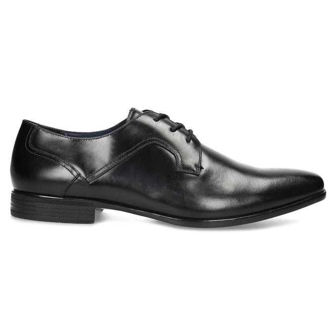 Černé pánské kožené Derby polobotky bata, černá, 824-6902 - 19