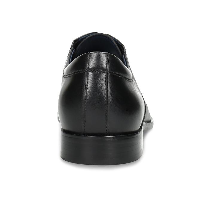 Kožené pánské polobotky v Derby stylu bata, černá, 824-6900 - 15