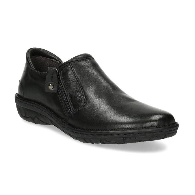 Dámská černá kožená Slip-on obuv bata, černá, 594-6625 - 13