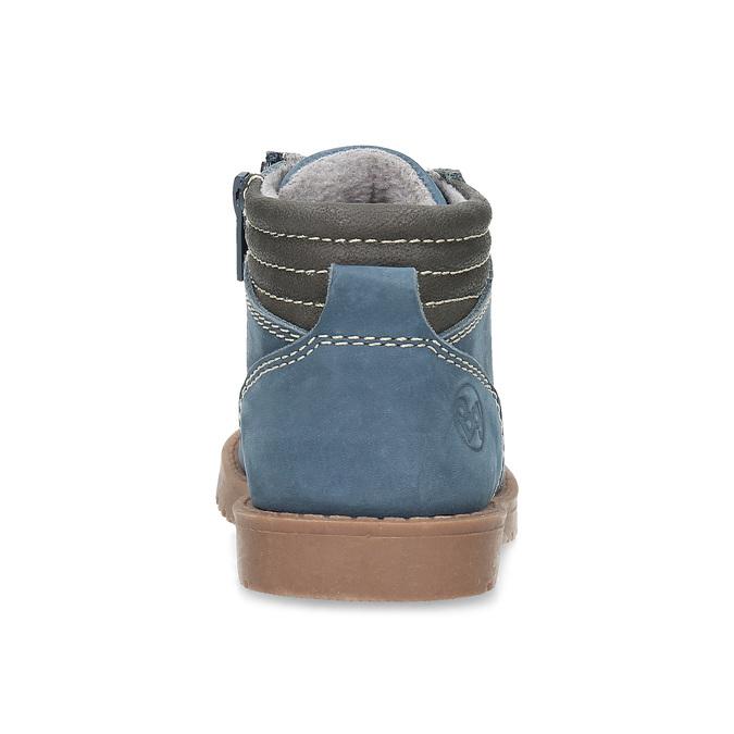 Dětská modrá kotníčková obuv s prošitím bubblegummers, modrá, 116-9620 - 15