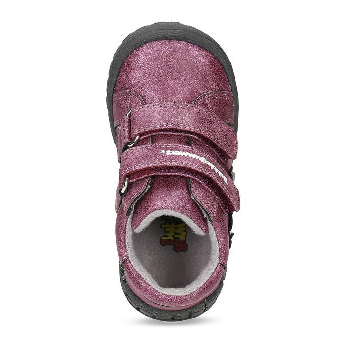 Fialová dětská kotníčková obuv na suché zipy bubblegummers, fialová, 121-9722 - 17