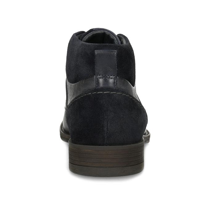 Modrá pánská kožená kotníčková obuv bata, modrá, 826-9937 - 15