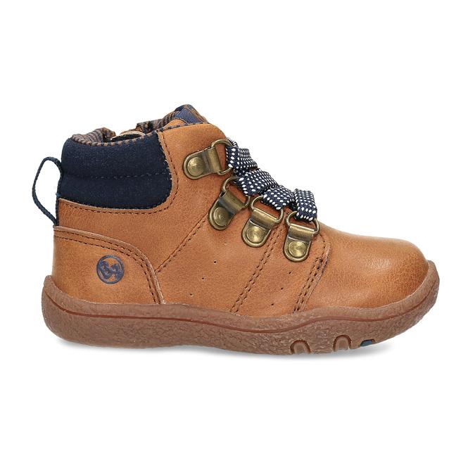 Hnědá dětská kotníčková obuv bubblegummers, hnědá, 111-3721 - 19