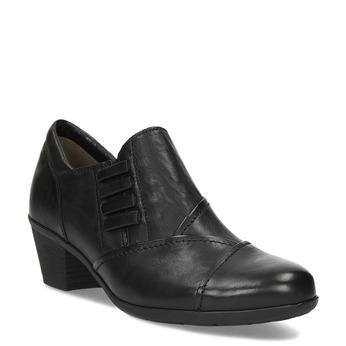 Kožená dámská černá kotníčková obuv gabor, černá, 626-6102 - 13