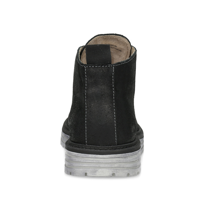 Kotníčková černá kožená pánská obuv weinbrenner, černá, 846-6735 - 15