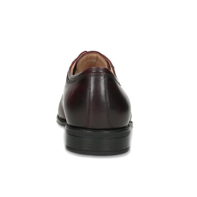 Vínové pánské kožené Derby polobotky bata, červená, 826-5903 - 15