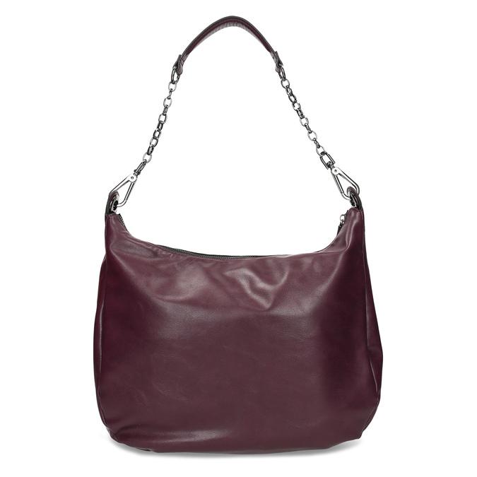 Kaštanově hnědá dámská kabelka bata, červená, 961-5987 - 16
