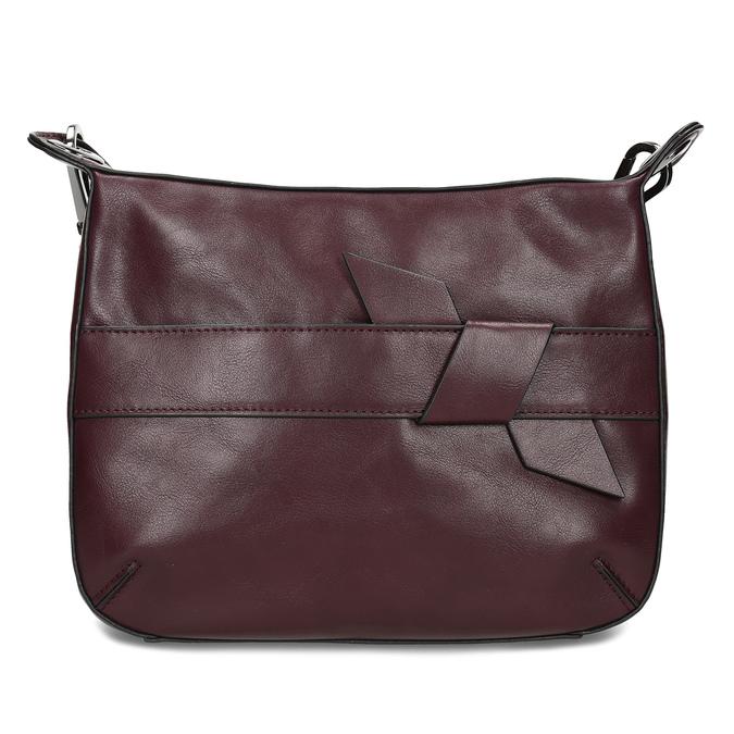 Vínová Crossbody kabelka s prošitím bata, červená, 961-5992 - 26