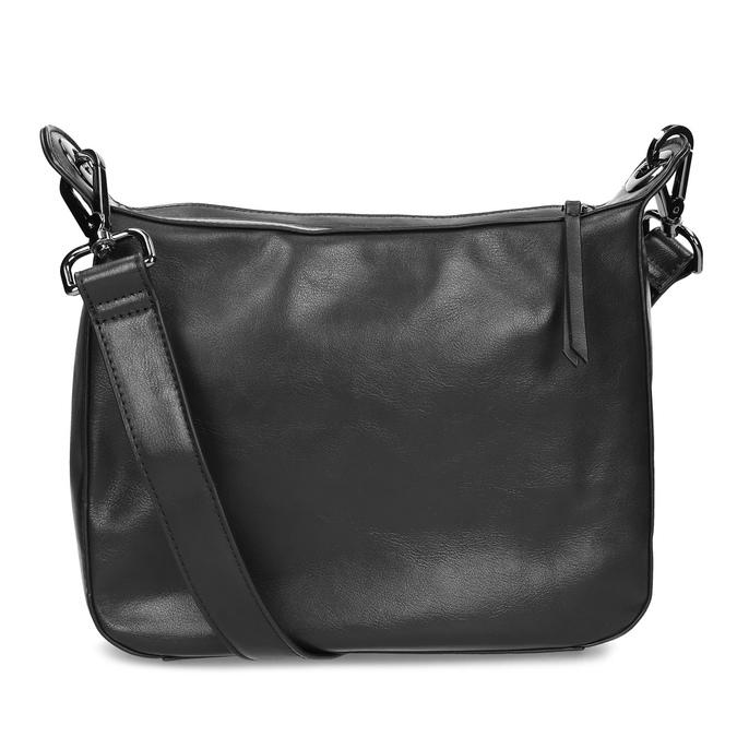 Černá Crossbody kabelka s prošitím bata, černá, 961-6992 - 16
