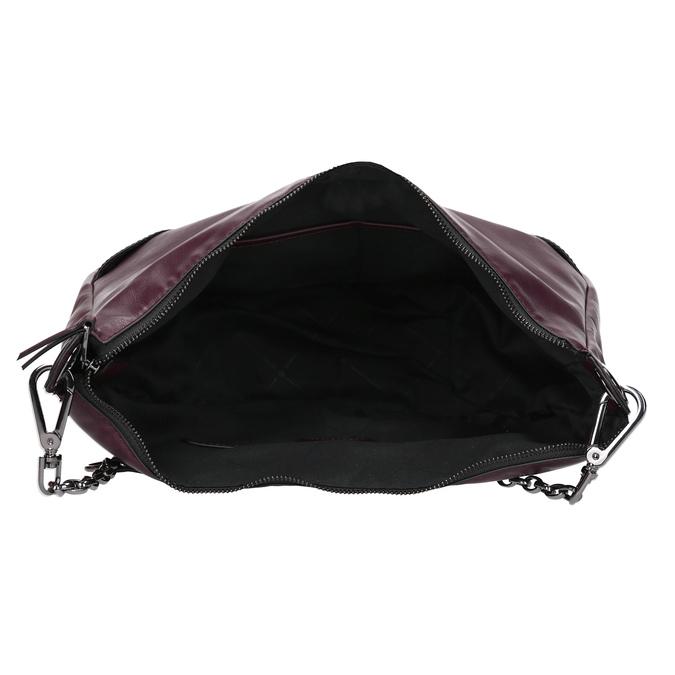 Kaštanově hnědá dámská kabelka bata, červená, 961-5987 - 15