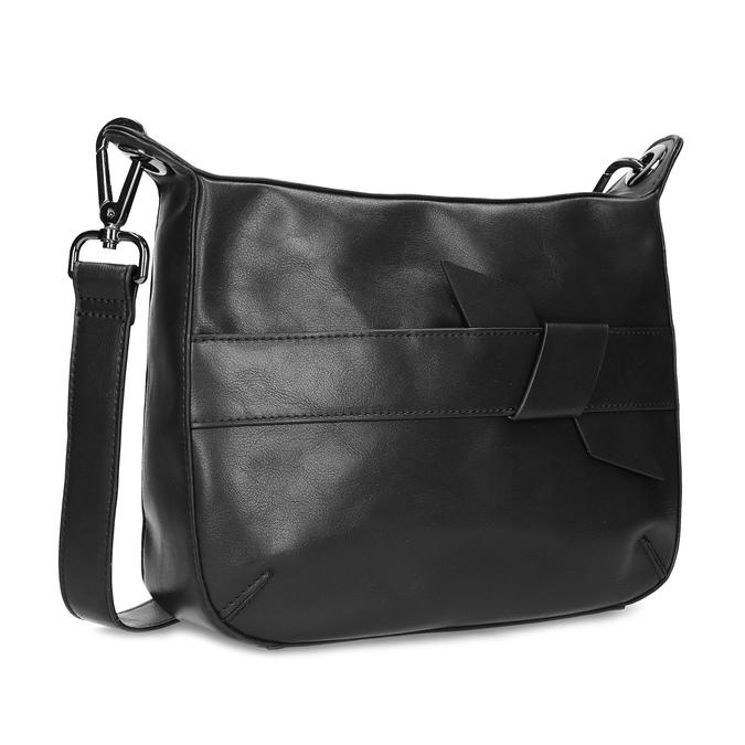 Černá Crossbody kabelka s prošitím bata, černá, 961-6992 - 13