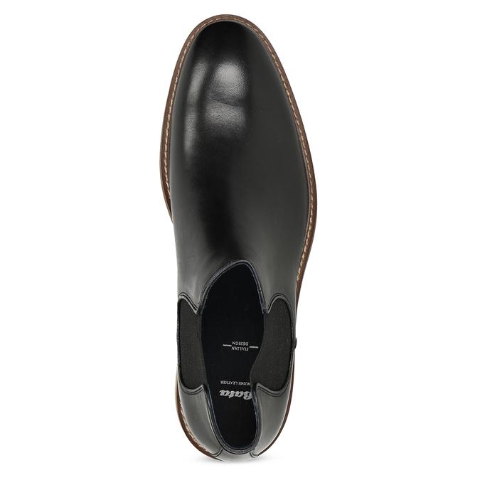 Pánská kožená kotníčková Chelsea obuv bata, černá, 814-6601 - 17