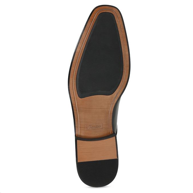 Pánské černé kožené polobotky s prošitím bata, černá, 824-6905 - 18
