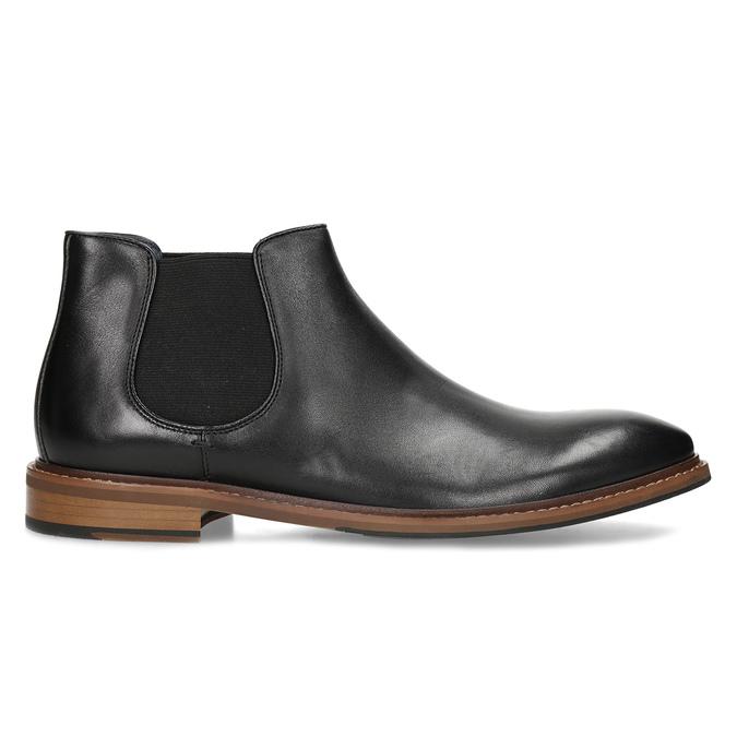 Pánská kožená kotníčková Chelsea obuv bata, černá, 814-6601 - 19