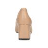 Béžové kožené lodičky na stabilním podpatku bata, béžová, 624-8612 - 15