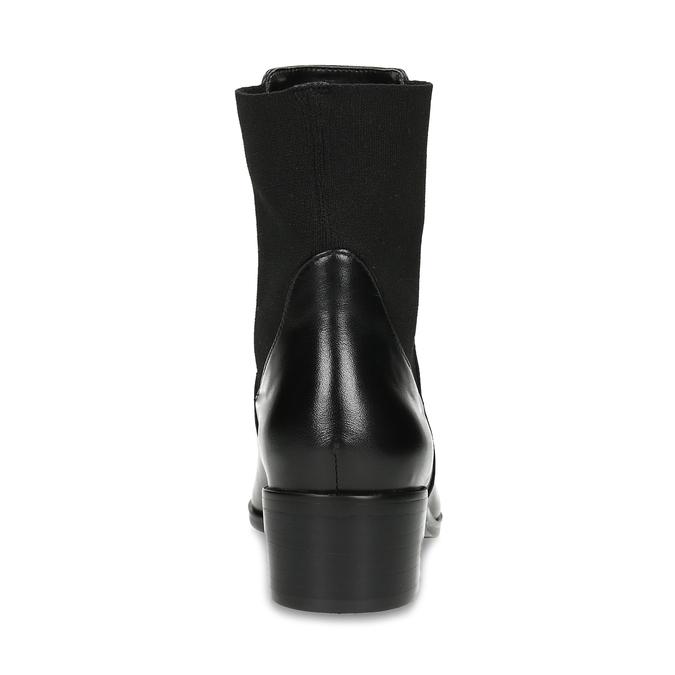 Kožené kotníčkové Chelsea kozačky bata, černá, 694-6617 - 15