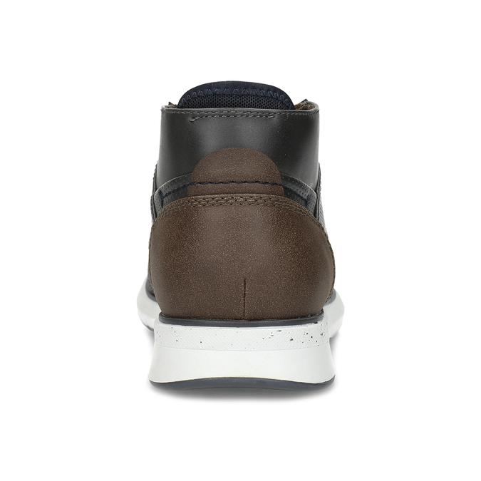 Šedá pánská kotníčková obuv s hnědým detailem bata-red-label, šedá, 821-2673 - 15