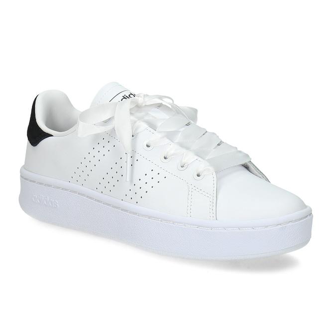 Dámské bílé ležérní tenisky s perforací adidas, bílá, 501-1231 - 13