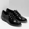 Černé lakované polobotky dámské bata, černá, 521-6601 - 26