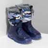 Modré dětské holínky s maskáčovým vzorem mini-b, modrá, 292-9301 - 26