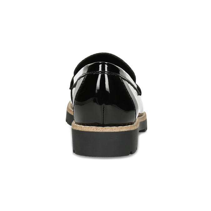 Dámské černé mokasíny lakované bata, černá, 551-6601 - 15