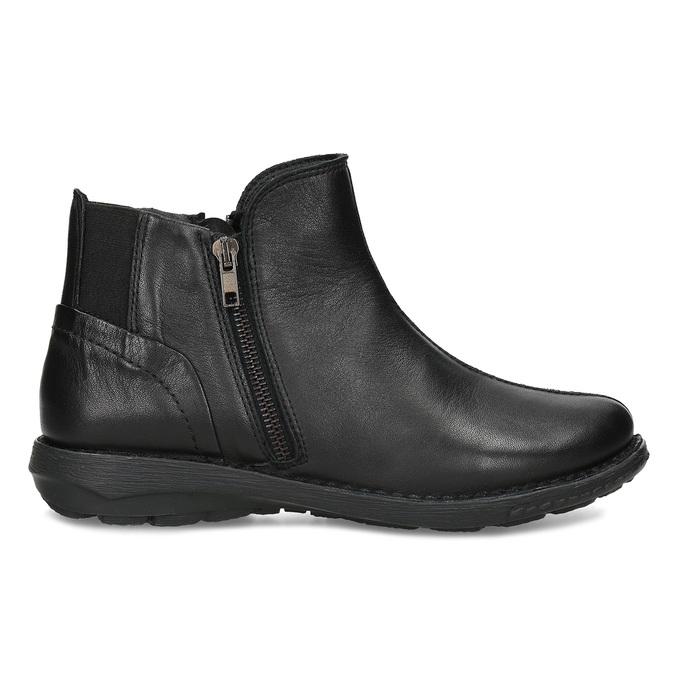 Dámská černá kožená kotníčková obuv bata, černá, 524-6618 - 19