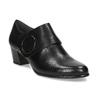 Kotníčková kožená obuv na stabilním podpatku bata, černá, 624-6609 - 13