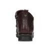 Vínové dámské kožené kotníčkové kozačky comfit, červená, 594-5607 - 15