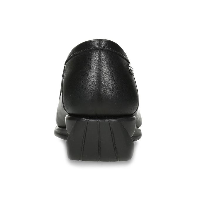 Kožené černé dámské mokasíny s přezkou comfit, černá, 514-6604 - 15