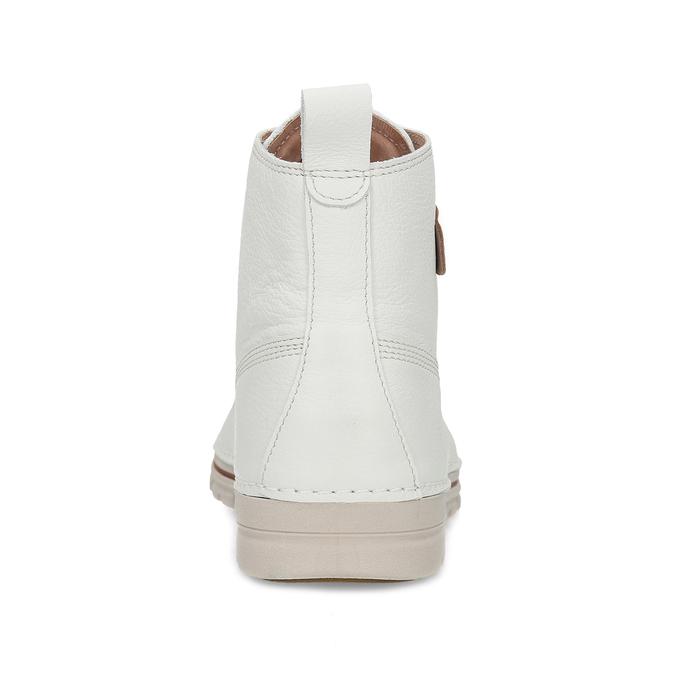 Dámská šněrovací obuv z bílé kůže weinbrenner, bílá, 596-1603 - 15