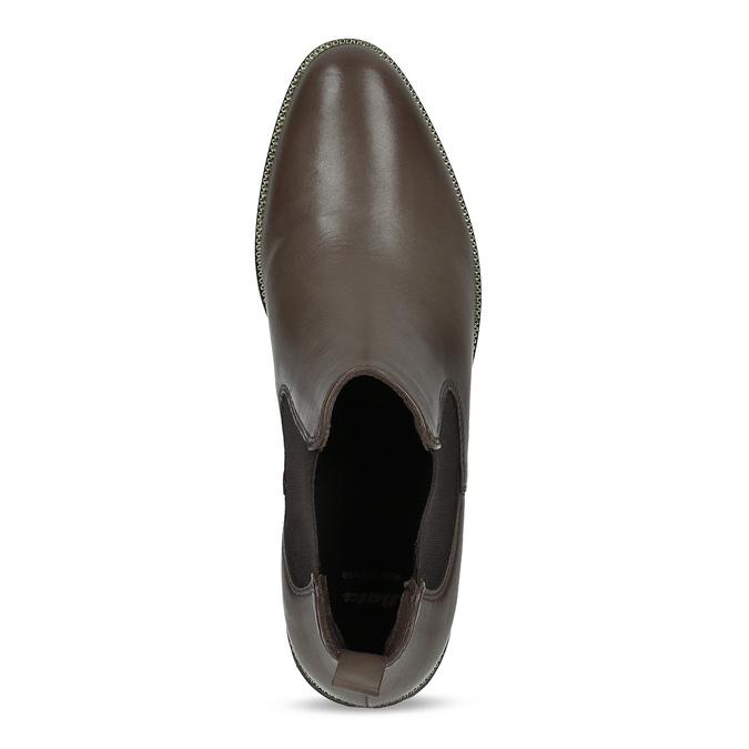 Hnědá kožená dámská Chelsea obuv bata, hnědá, 594-4655 - 17