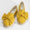 Žluté dámské espadrilky s mašlí bata, žlutá, 559-8607 - 16