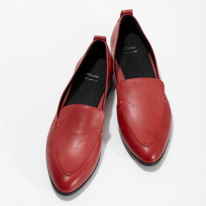 Kožené dámské mokasíny červené bata, červená, 534-5601 - 16