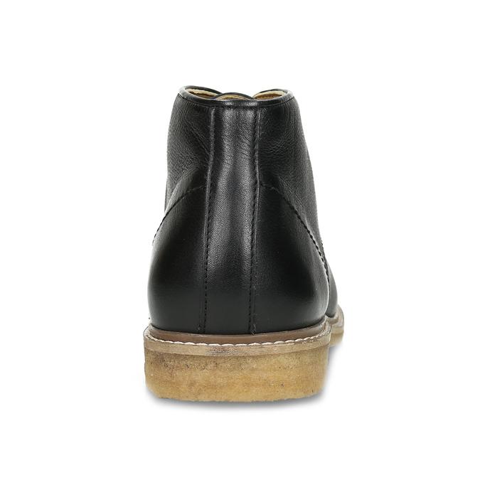 Černá pánská kožená kotníčková obuv bata, černá, 824-6685 - 15