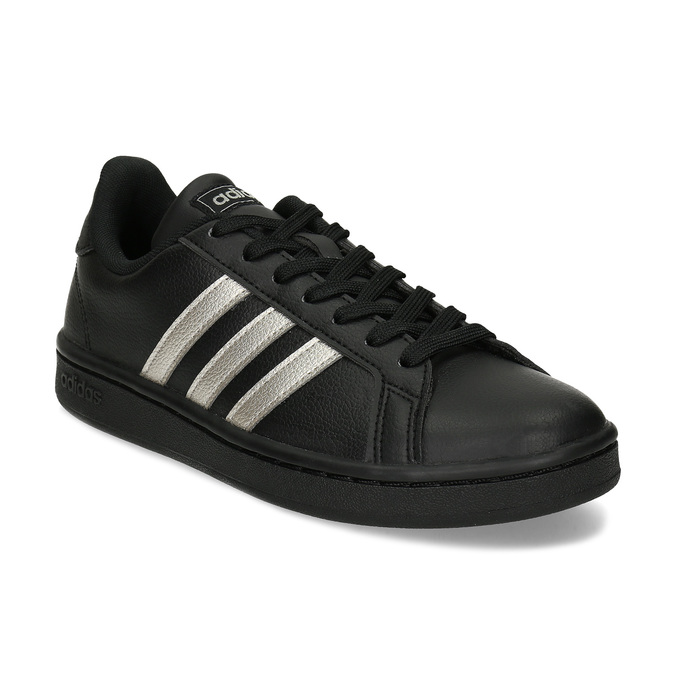 Dámské černé tenisky se stříbrnými detaily adidas, černá, 501-6221 - 13