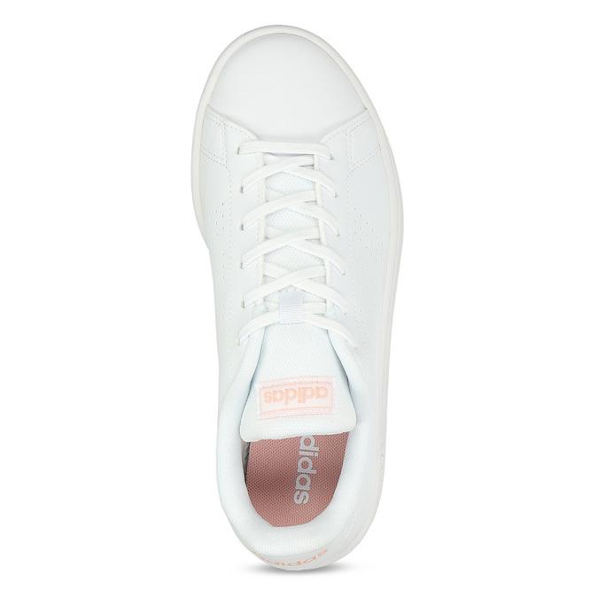 Bílé dámské tenisky s perforací adidas, bílá, 501-1240 - 17