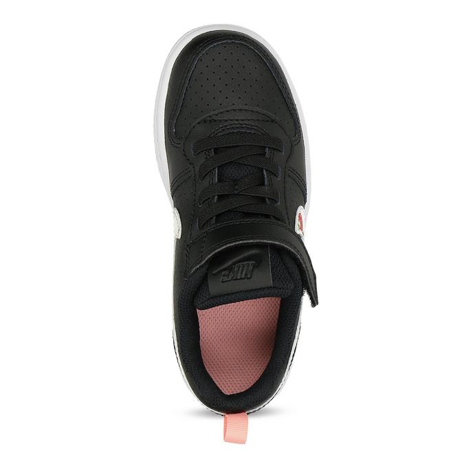 Černé dětské tenisky s barevným logem nike, černá, 301-6303 - 17