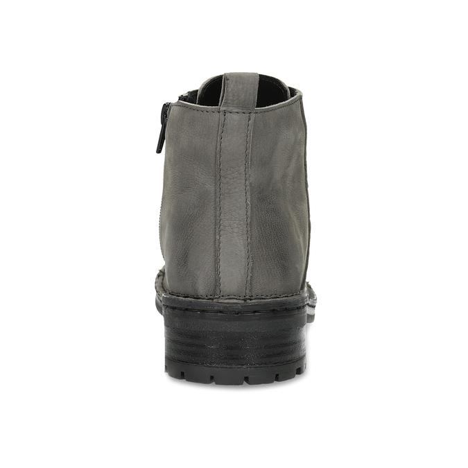 Šedá dámská kožená kotníčková obuv bata, šedá, 596-2604 - 15