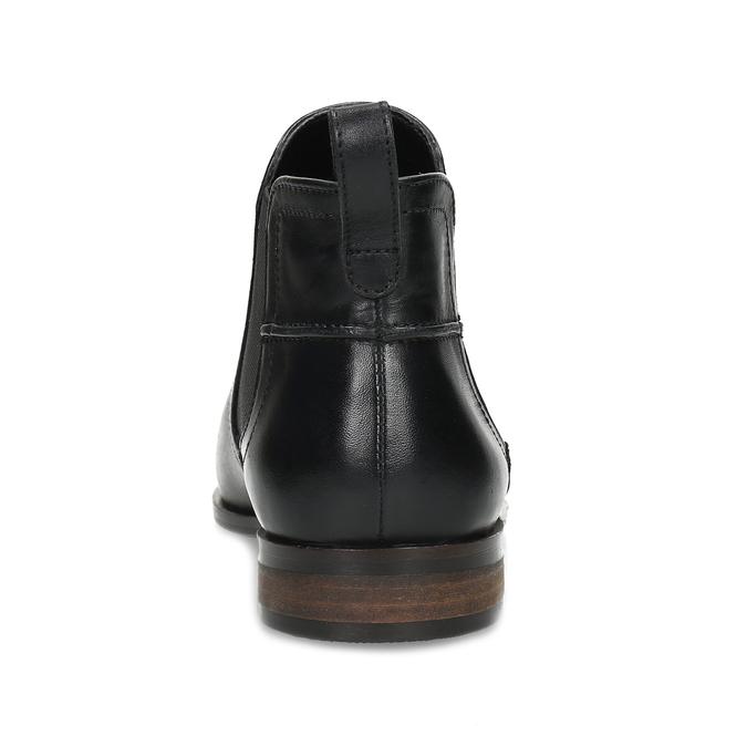 Kožená černá dámská Chelsea obuv bata, černá, 594-6644 - 15