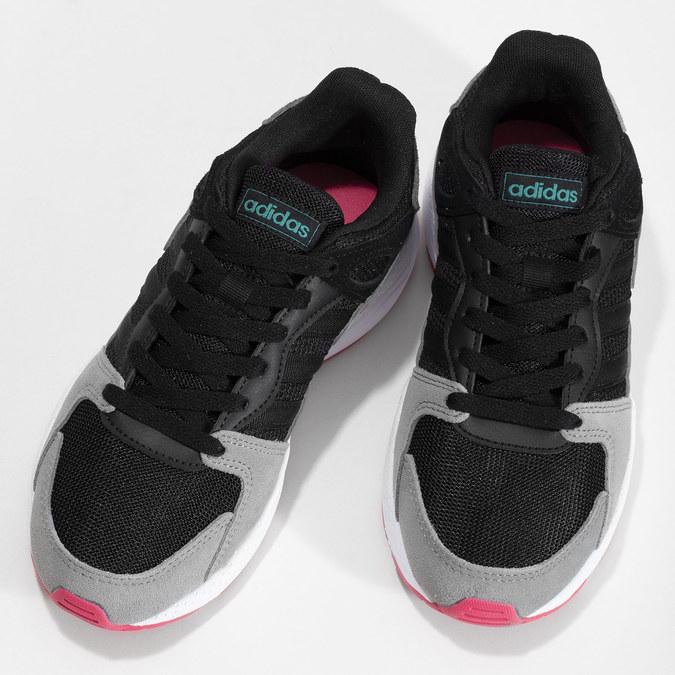 Černé dámské tenisky s šedými detaily adidas, černá, 501-6267 - 16