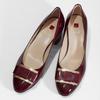 Vínové dámské kožené lakované lodičky hogl, červená, 628-5102 - 16