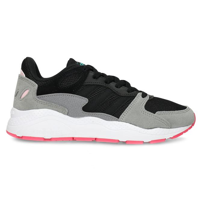 Černé dámské tenisky s šedými detaily adidas, černá, 501-6267 - 19