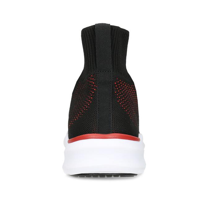 Pánské úpletové tenisky s červenými detaily bata-red-label, černá, 849-6775 - 15