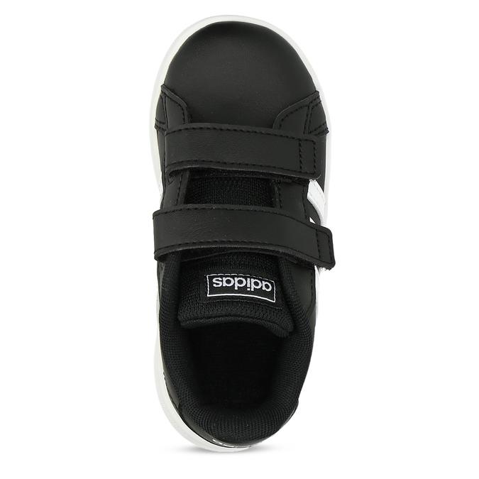 Černé dětské tenisky na suché zipy adidas, černá, 101-6281 - 17