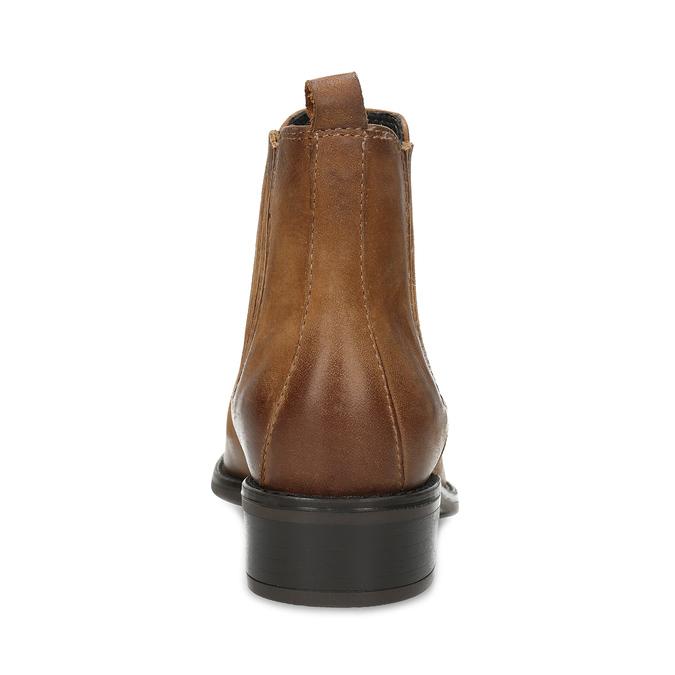 Dámské hnědé kožené kozačky v Chelsea stylu bata, hnědá, 596-4609 - 15