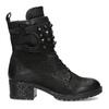 Černé kožené kozačky s kovovými cvoky bata, černá, 596-6600 - 19