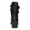 Černé kožené kozačky s kovovými cvoky bata, černá, 596-6600 - 15