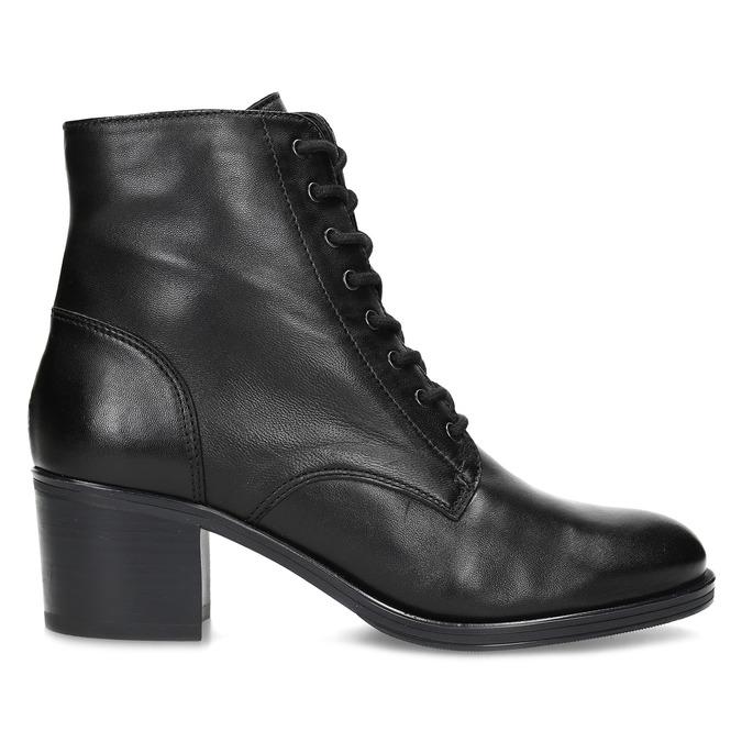 Kožené kotníčkové kozačky na stabilním podpatku bata, černá, 694-6620 - 19