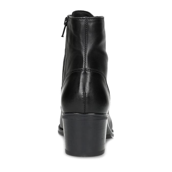 Kožené kotníčkové kozačky na stabilním podpatku bata, černá, 694-6620 - 15